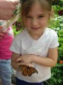 Lilly holding a butterfly